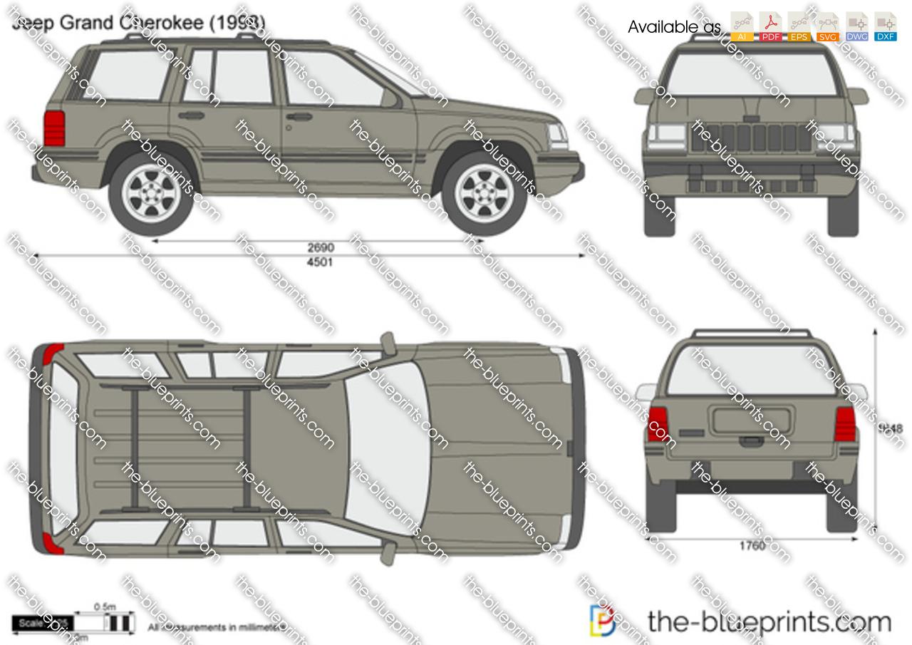 The Blueprints Com Vector Drawing Jeep Grand Cherokee