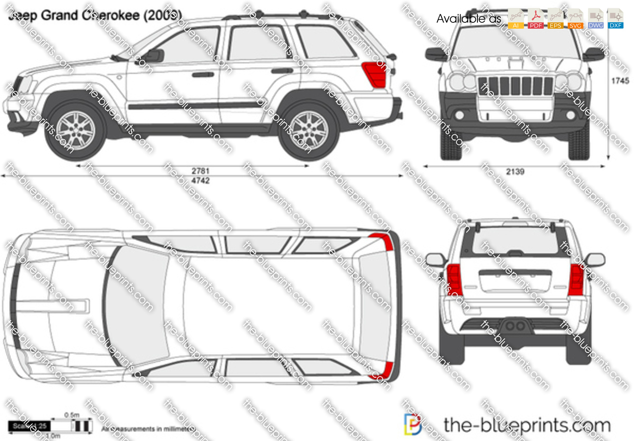 The Blueprints Com Vector Drawing Jeep Grand Cherokee