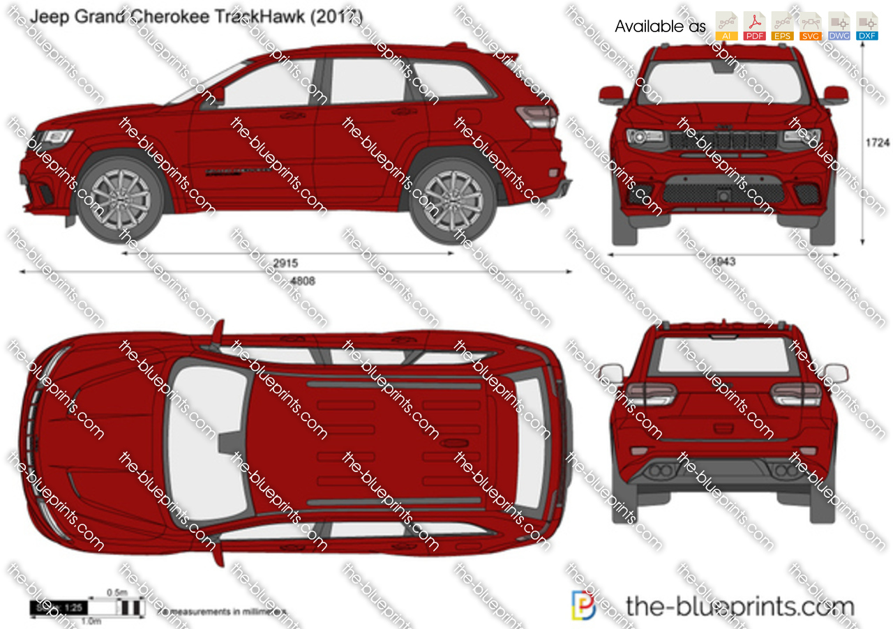 Jeep Grand Cherokee Trackhawk Vector Drawing