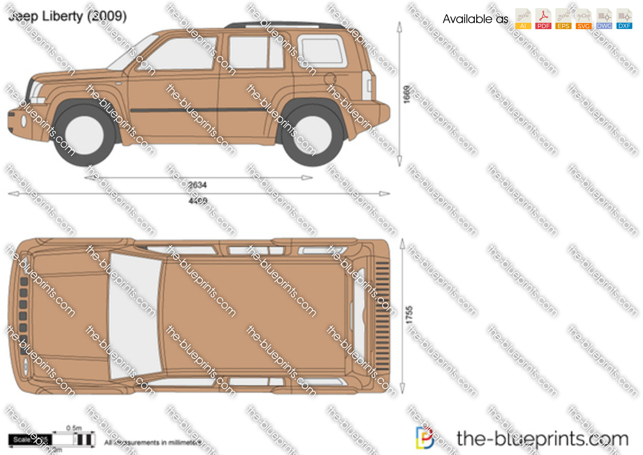 Jeep Liberty vector drawing
