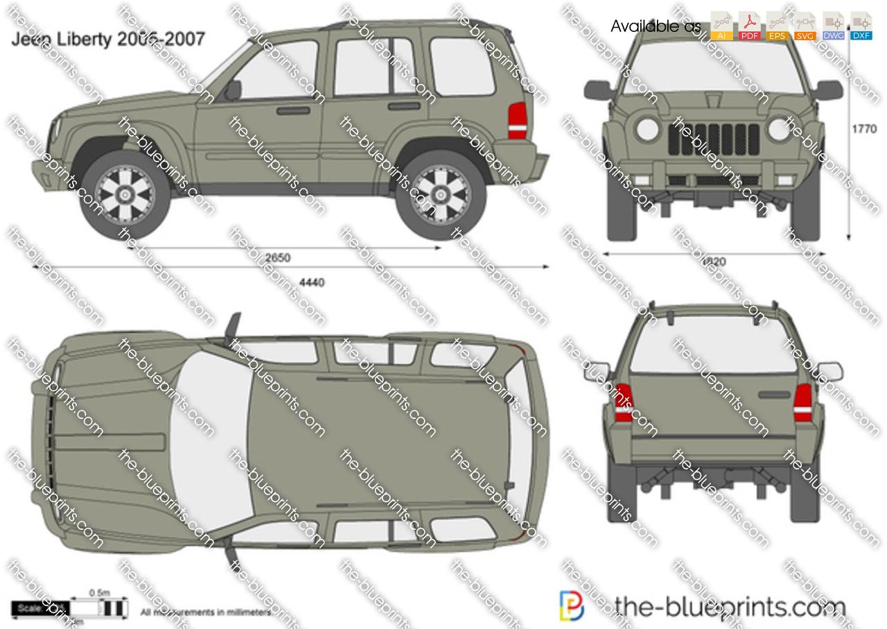 Jeep Liberty Vector Drawing