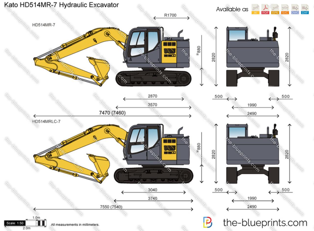 Kato HD514MR-7 Hydraulic Excavator