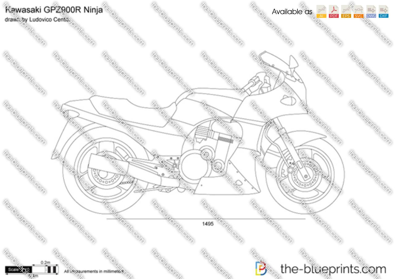 Kawasaki GPZ900R Ninja 1995