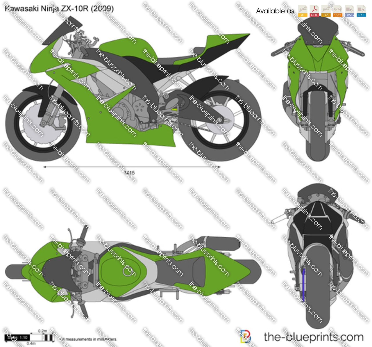 The Blueprints Com Vector Drawing Kawasaki Ninja Zx 10r