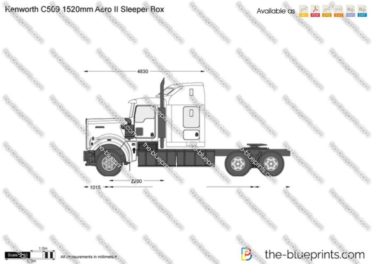Kenworth C509 1520mm Aero II Sleeper Box