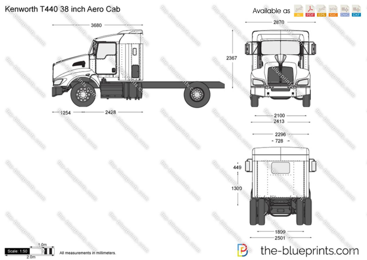Kenworth_t440_38_inch_aero_cab on 1 Inch Chart