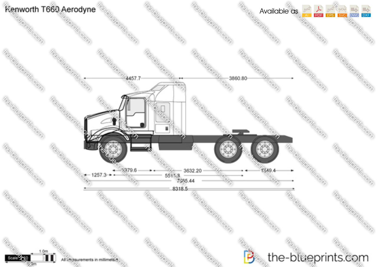 t660 kenworth truck drawing sketch coloring page
