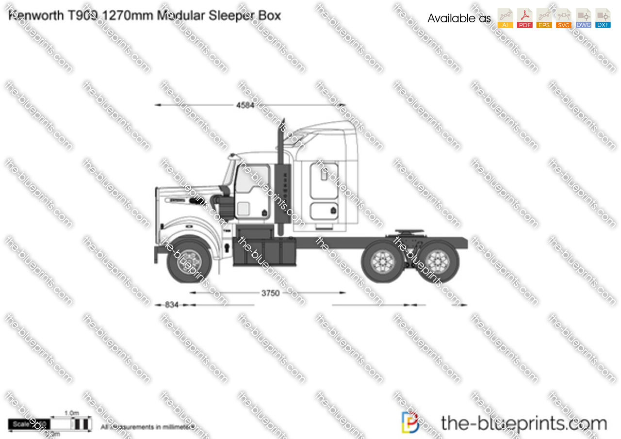 Kenworth T909 1270mm Modular Sleeper Box