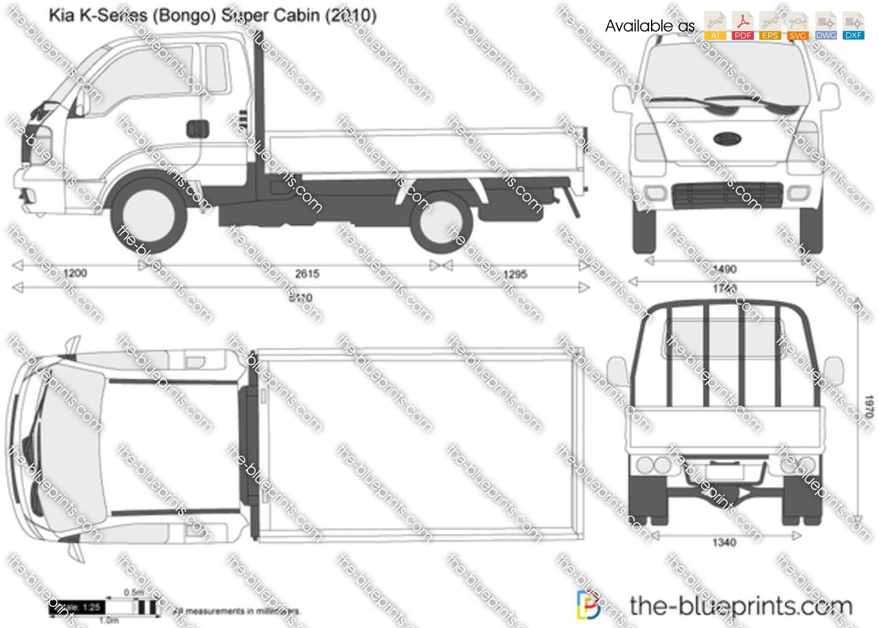 Kia K-Series (Bongo) Super Cabin 2012
