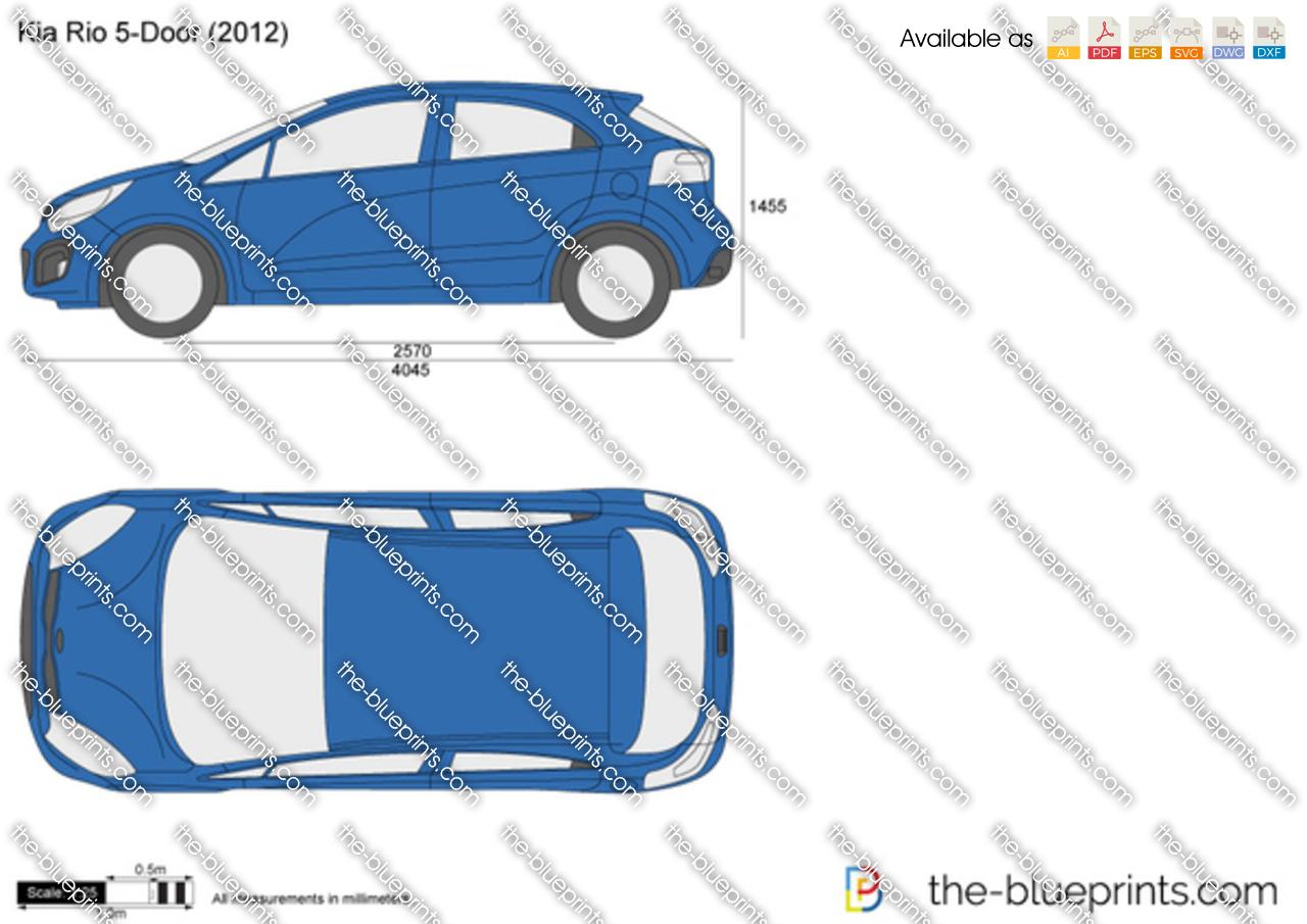 The-Blueprints.com - Vector Drawing - Kia Rio 5-Door