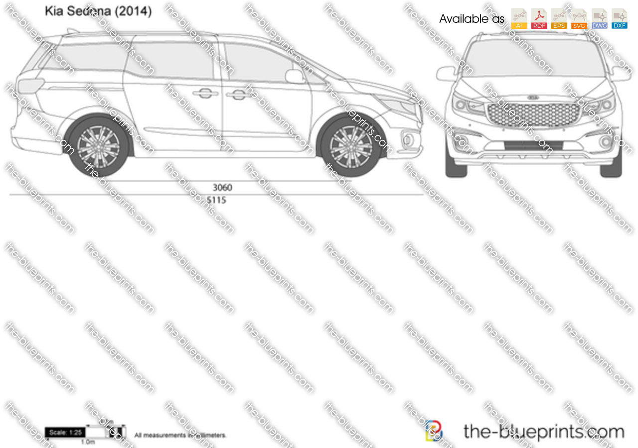 The vector drawing kia sedona for Where to get blueprints