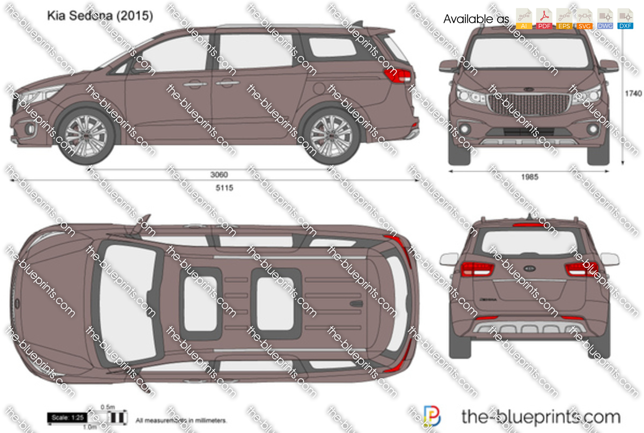 kia sedona vector drawing