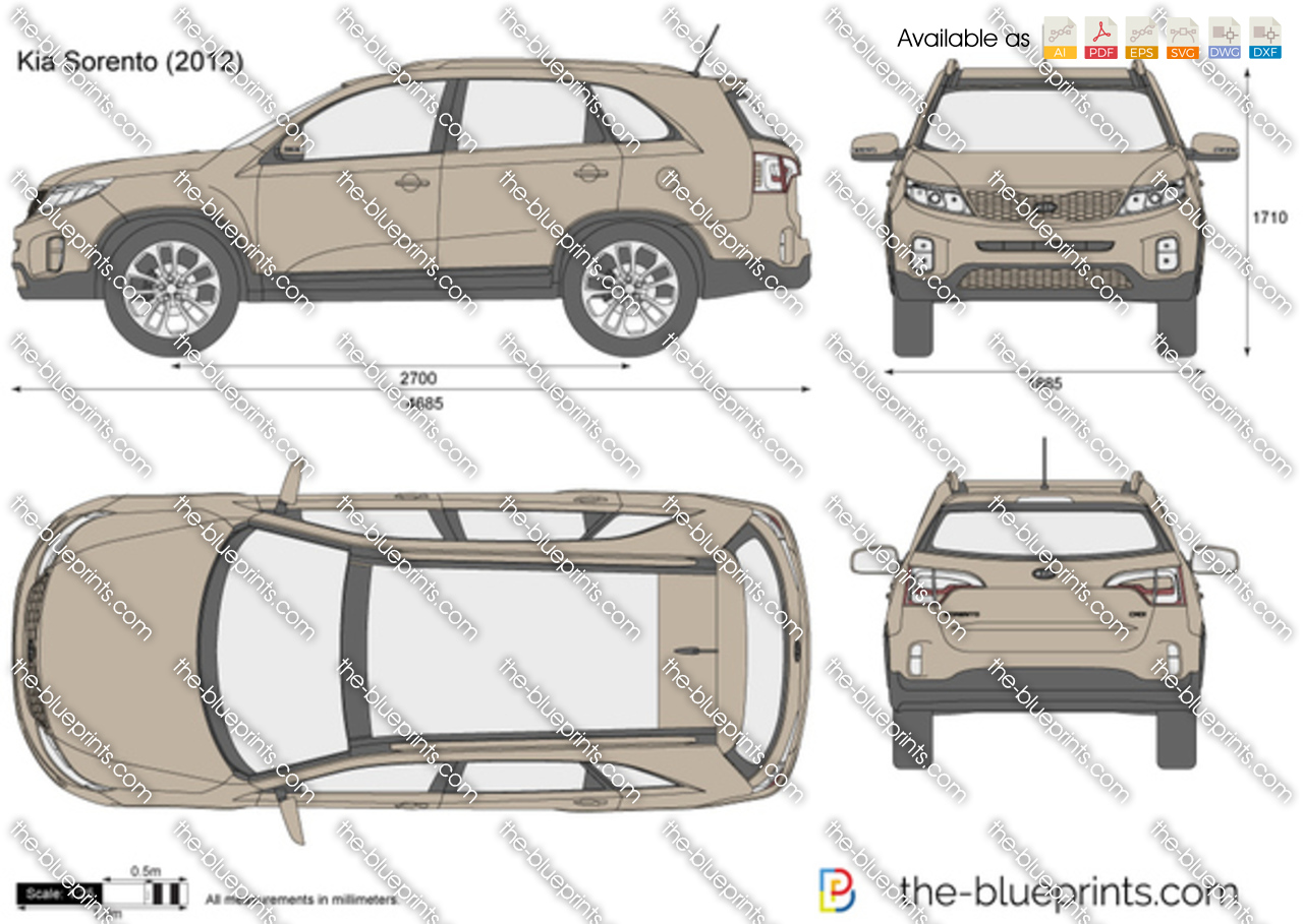 the vector drawing kia sorento. Black Bedroom Furniture Sets. Home Design Ideas