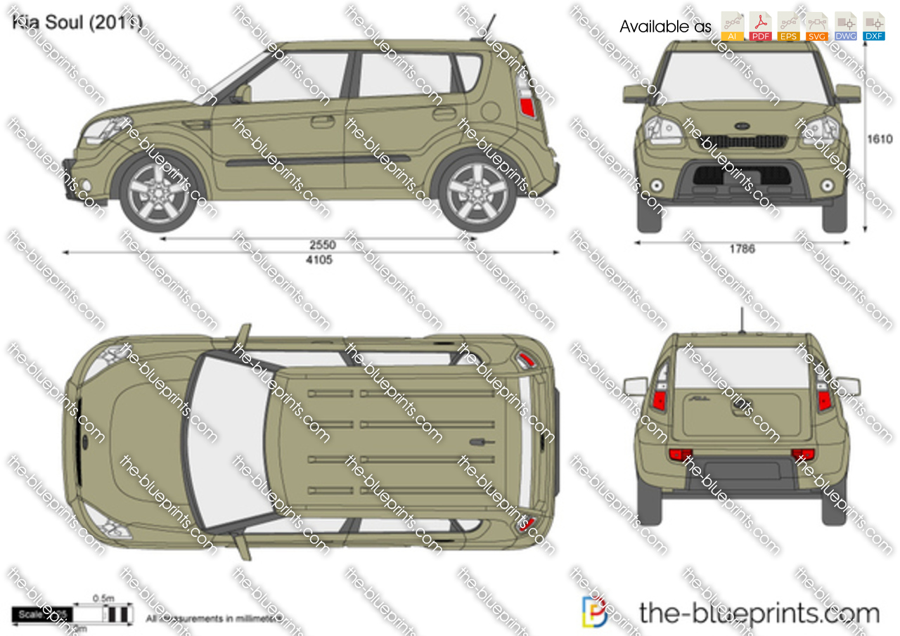 The-Blueprints.com - Vector Drawing - Kia Soul: www.the-blueprints.com/vectordrawings/show/386/kia_soul