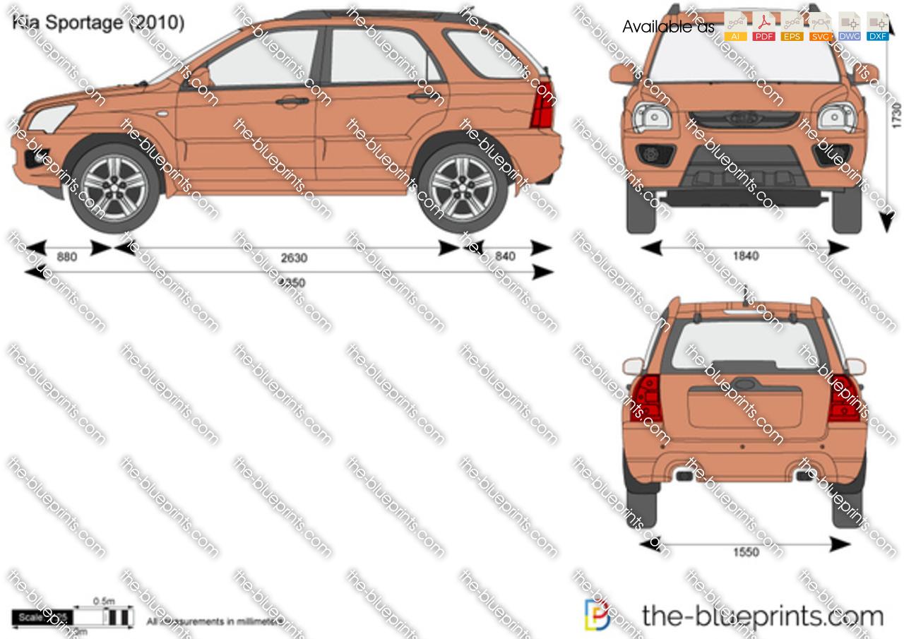Kia Sportage Vector Drawing
