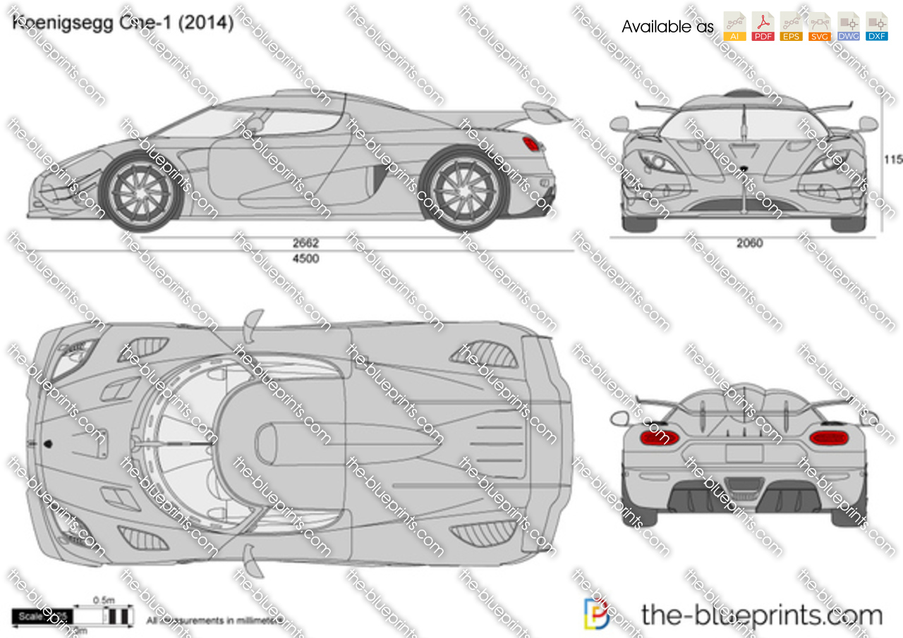 Koenigsegg One 1 Vector Drawing