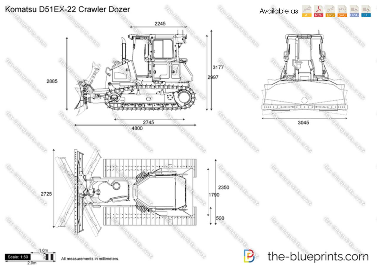 Komatsu D51EX-22 Crawler Dozer