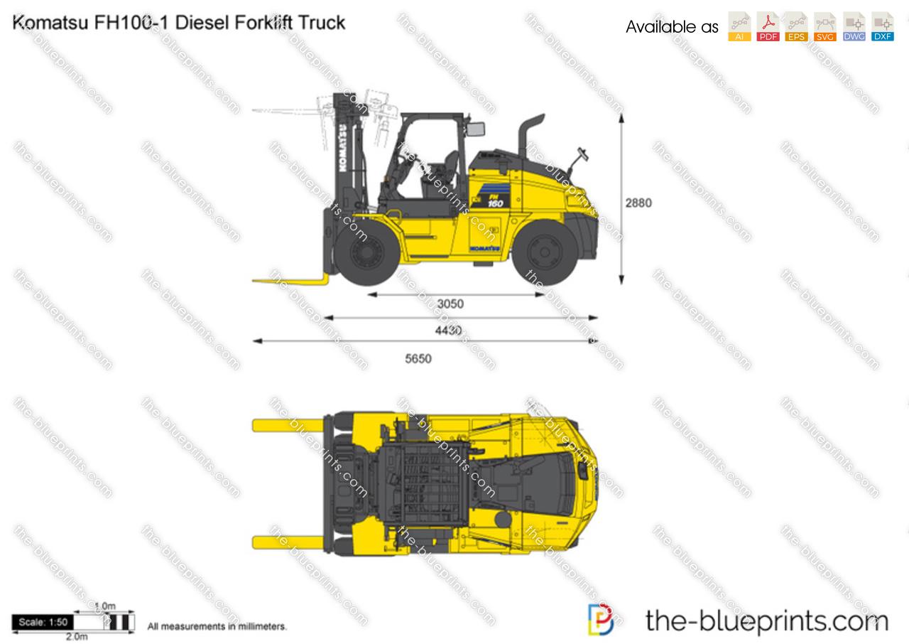 Komatsu FH100-1 Diesel Forklift Truck