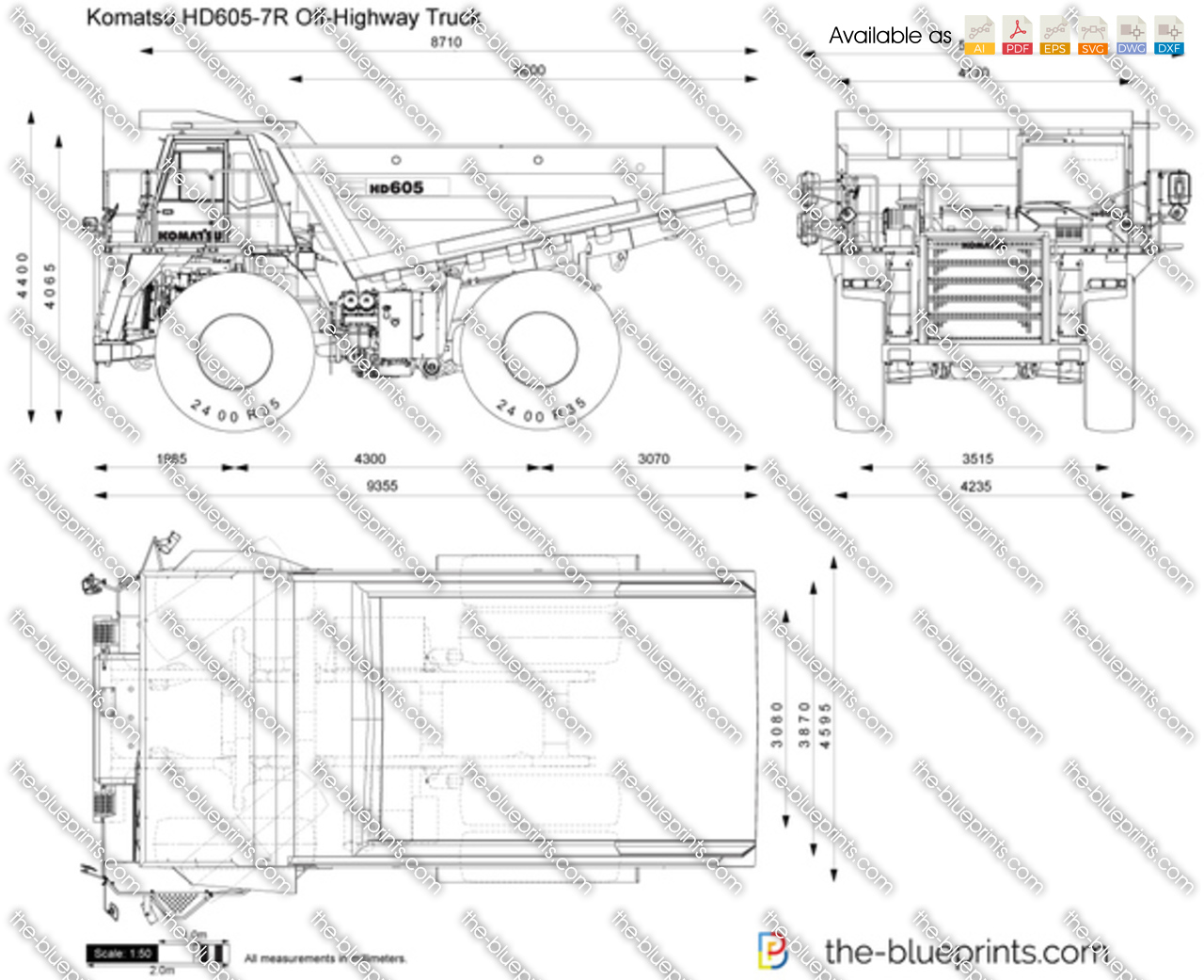 Komatsu HD605-7R Off-Highway Truck