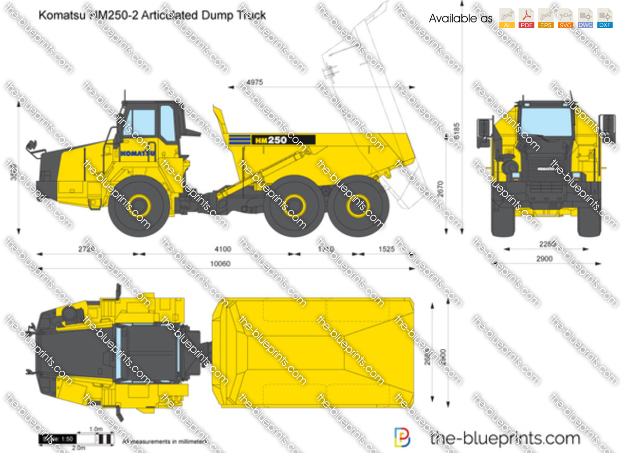 komatsu hm250 2 articulated dump truck vector drawing bulldozer clipart dozer clipart png
