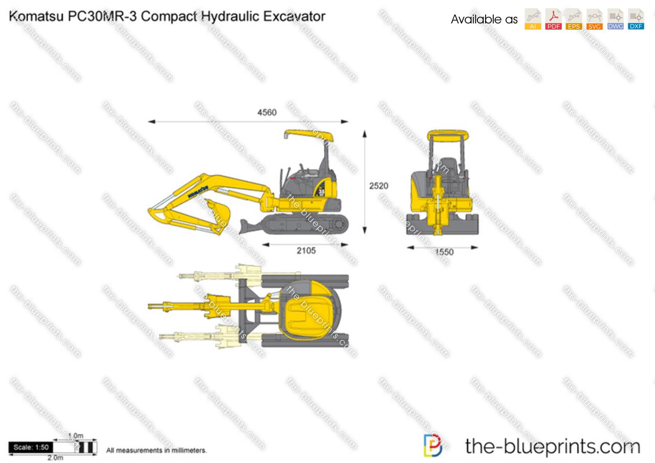 Komatsu PC30MR-3 Compact Hydraulic Excavator