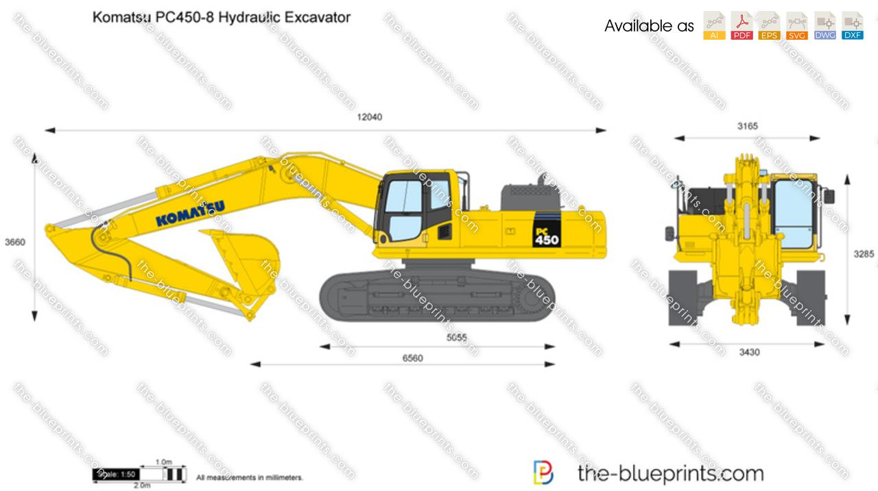 Komatsu PC450-8 Hydraulic Excavator