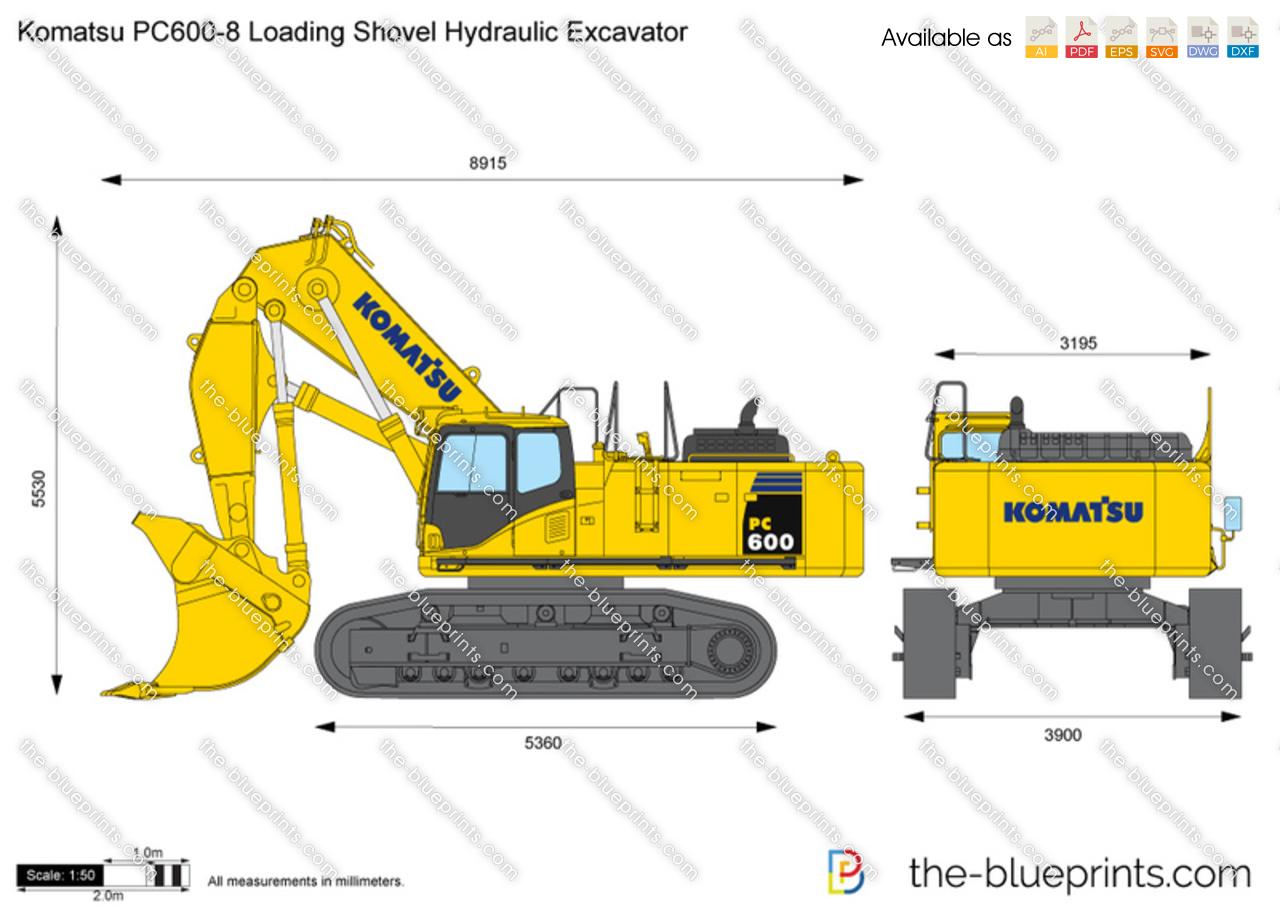 Komatsu PC600-8 Loading Shovel Hydraulic Excavator