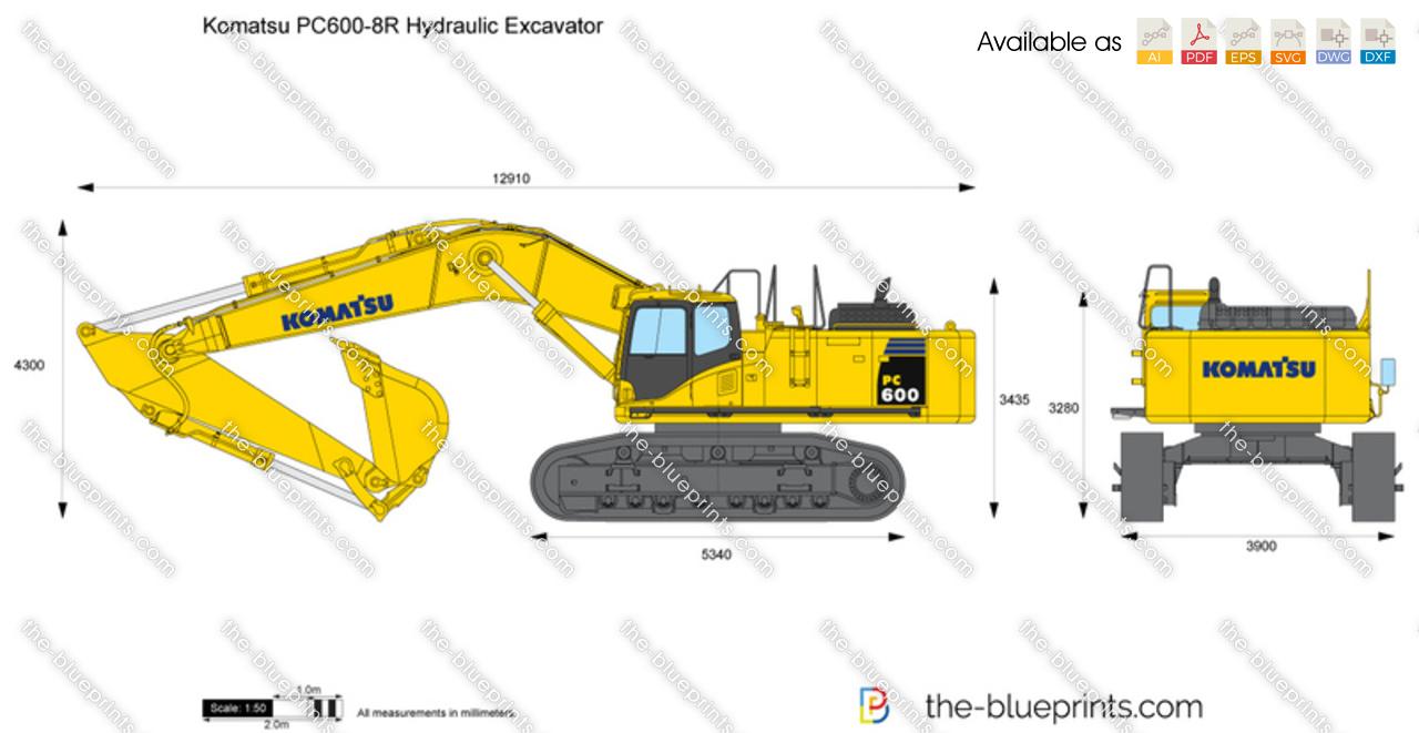 Komatsu PC600-8R Hydraulic Excavator
