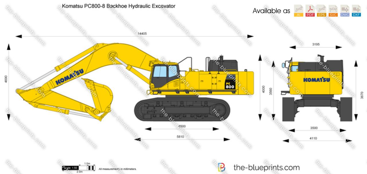 Komatsu PC800-8 Backhoe Hydraulic Excavator