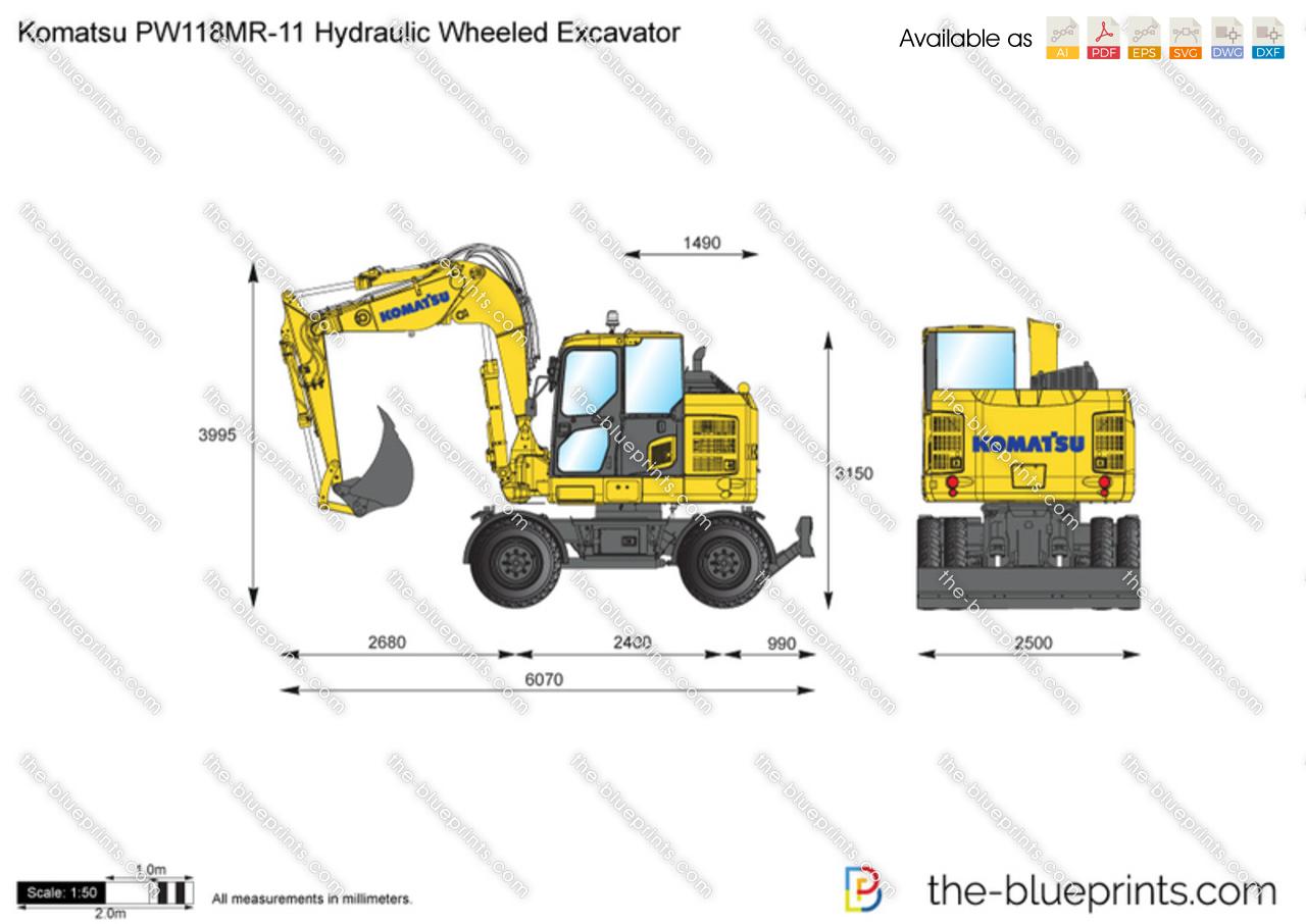 Komatsu PW118MR-11 Hydraulic Wheeled Excavator
