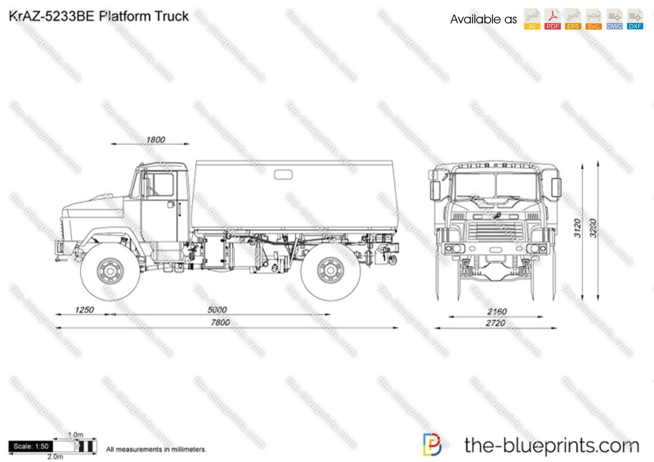 KrAZ-5233BE Platform Truck