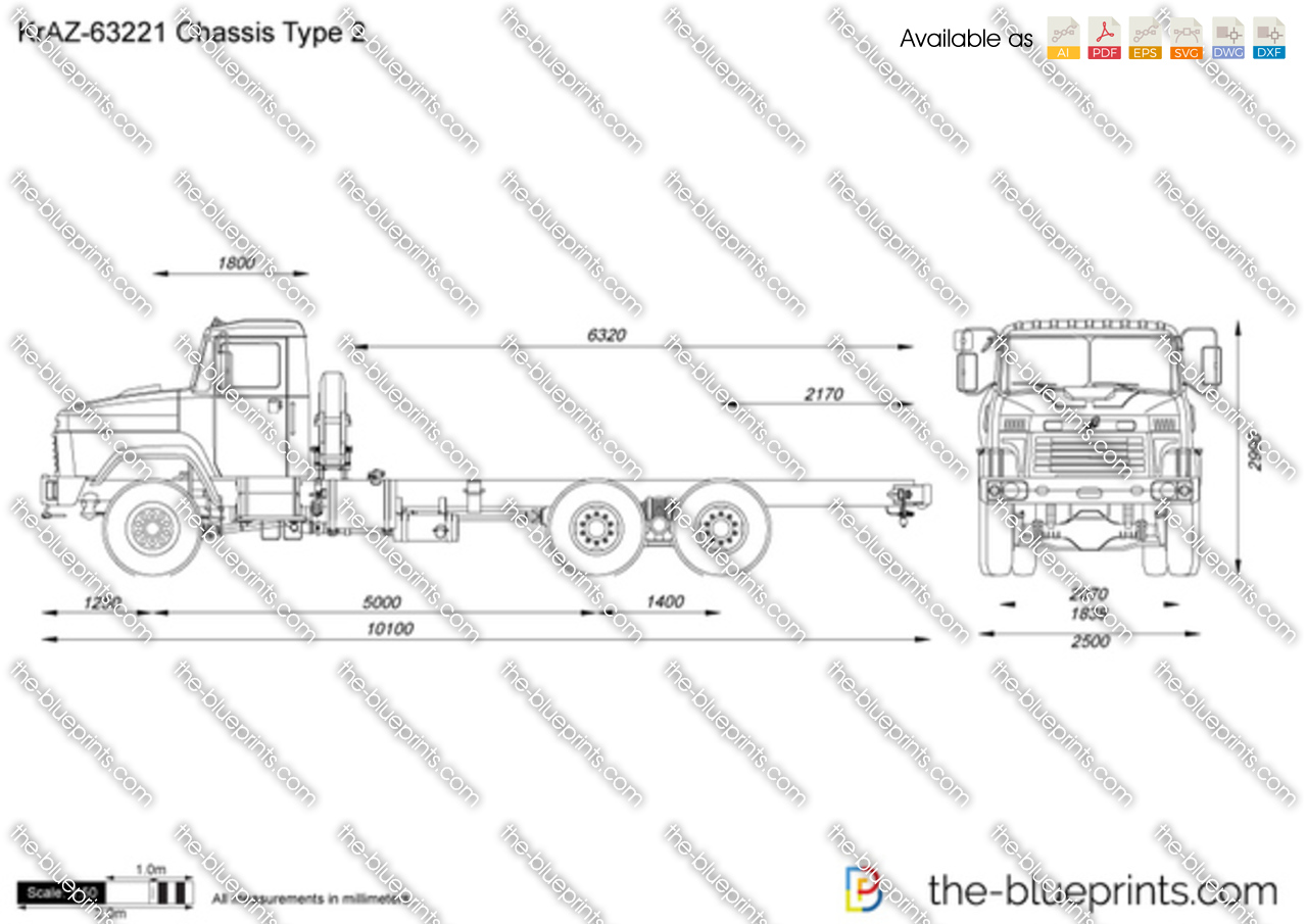 KrAZ-63221 Chassis Type 2