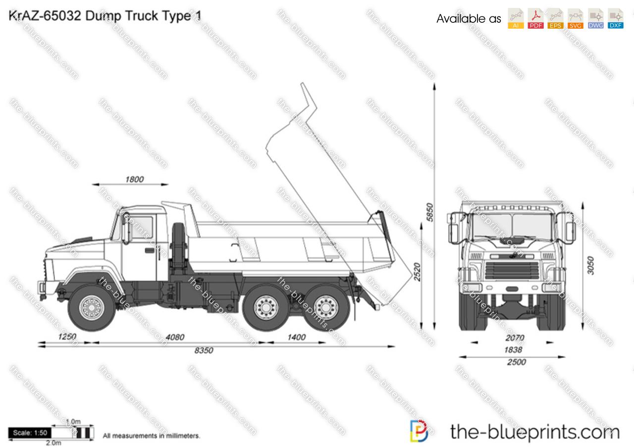 KrAZ-65032 Dump Truck Type 1