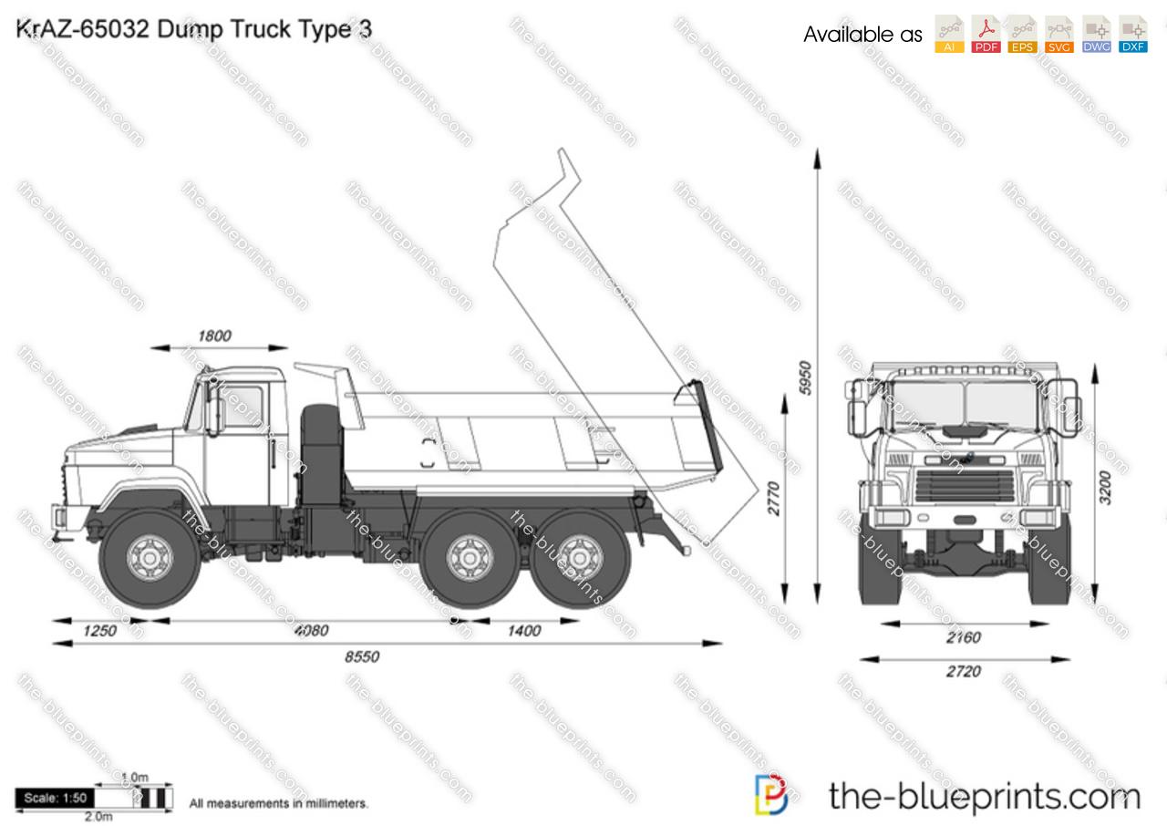 KrAZ-65032 Dump Truck Type 3