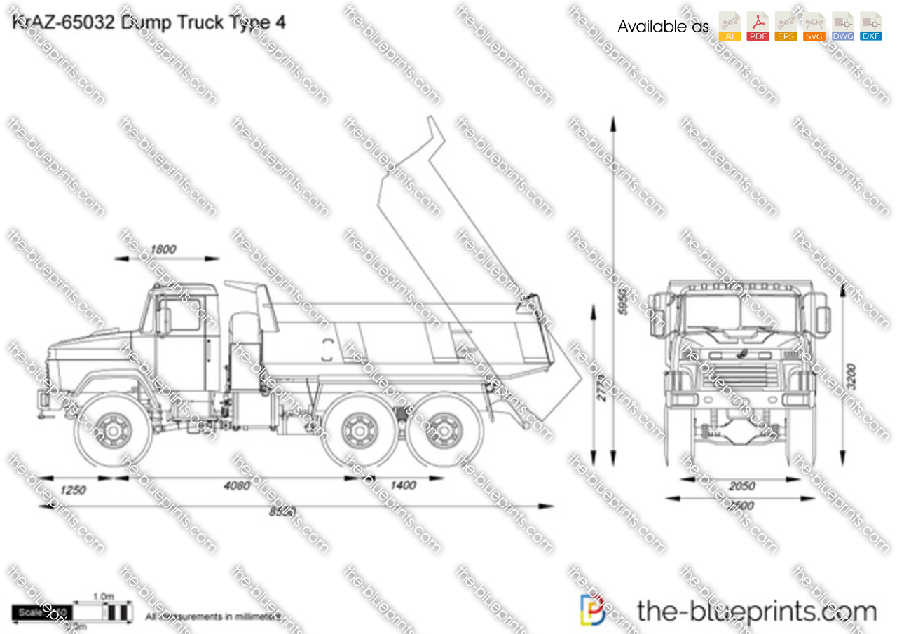 Kraz 65032 dump truck type 4 on ford schematics