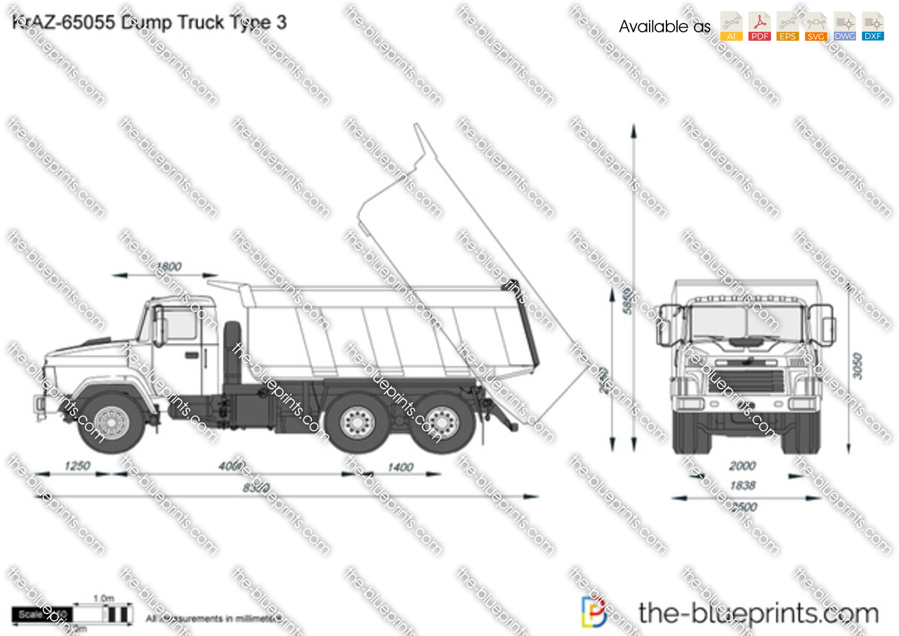 KrAZ-65055 Dump Truck Type 3