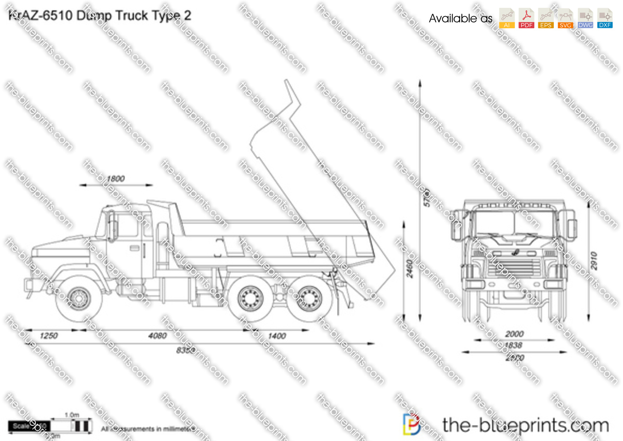 KrAZ-6510 Dump Truck Type 2