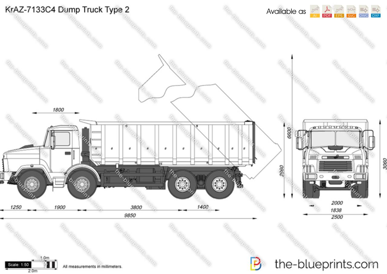KrAZ-7133C4 Dump Truck Type 2