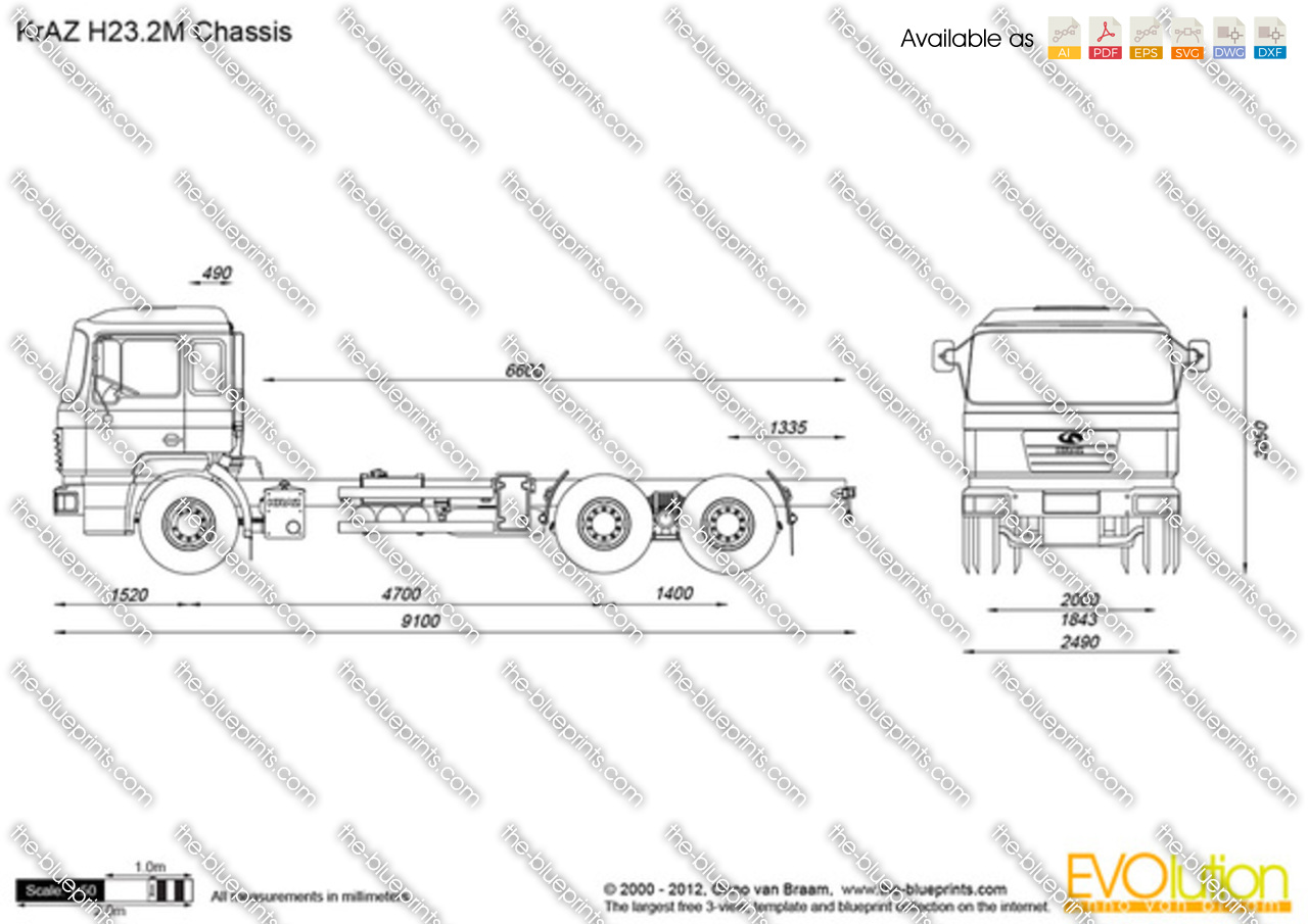 KrAZ H23.2M Chassis