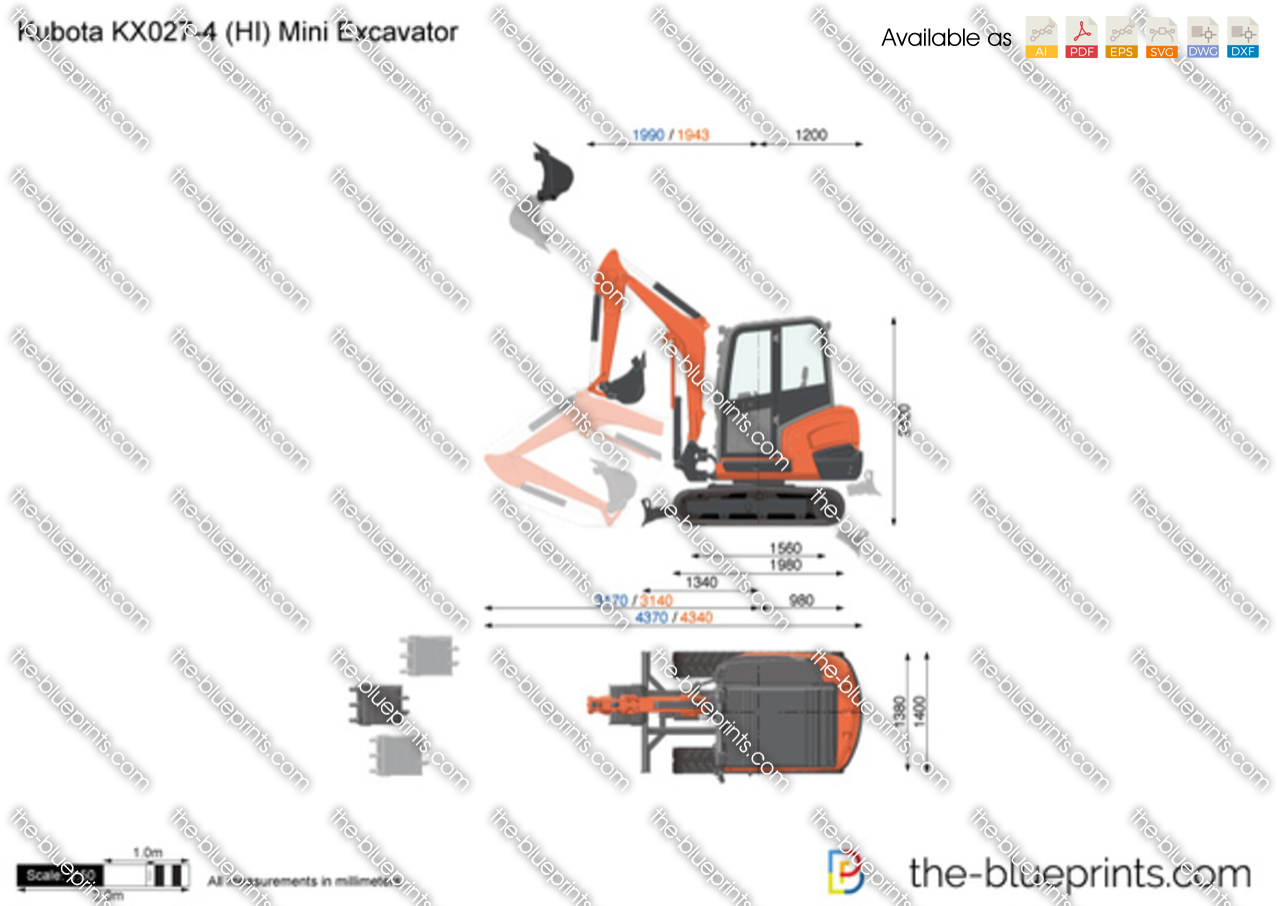 Kubota KX027-4 (HI) Mini Excavator