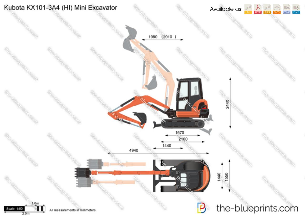 Kubota KX101-3A4 (HI) Mini Excavator