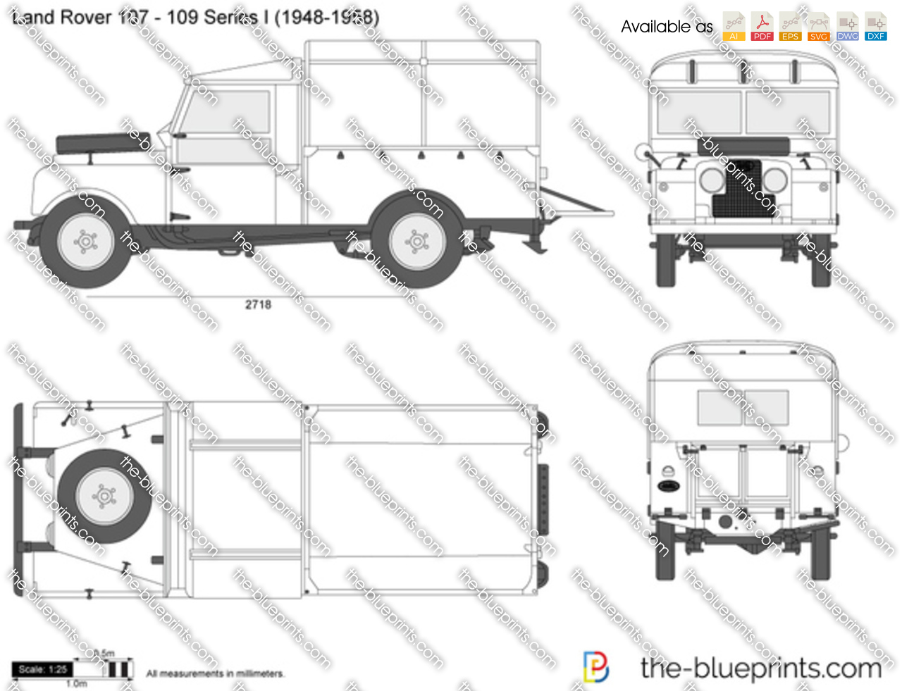 The Blueprints Com Vector Drawing Land Rover 107 109