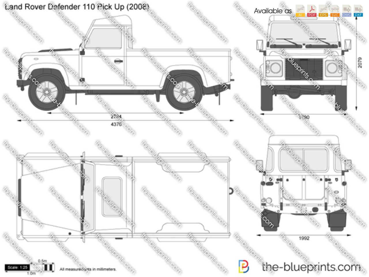 Land Rover Defender 110 Pick Up 2001