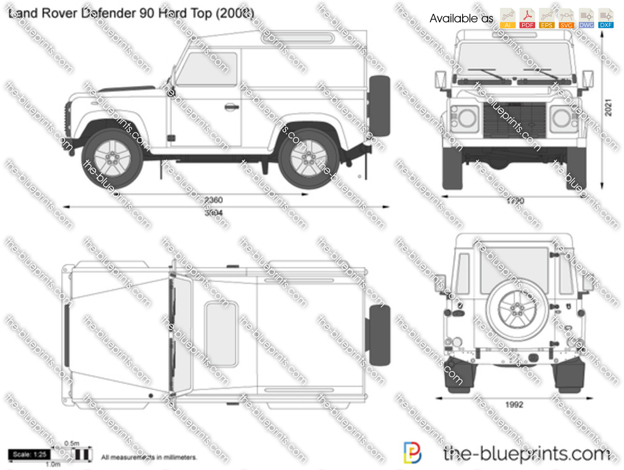 Land Rover Defender 90 Hard Top 2000