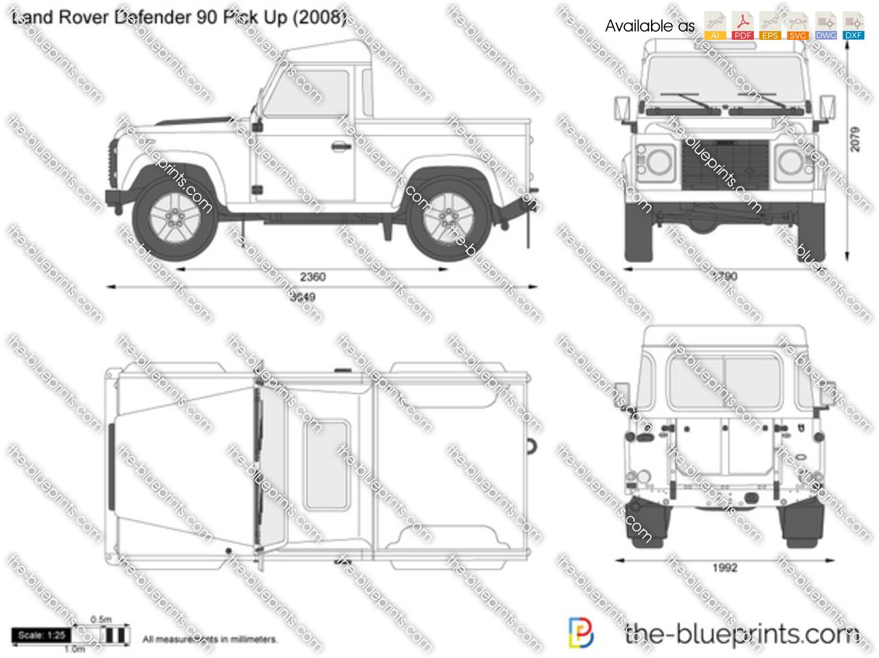 Land Rover Defender 90 Pick Up 2000