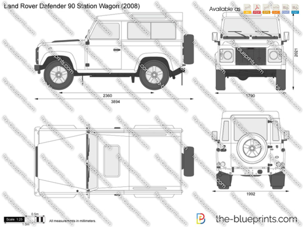 1995 Land Rover Defender 90 Station Wagon