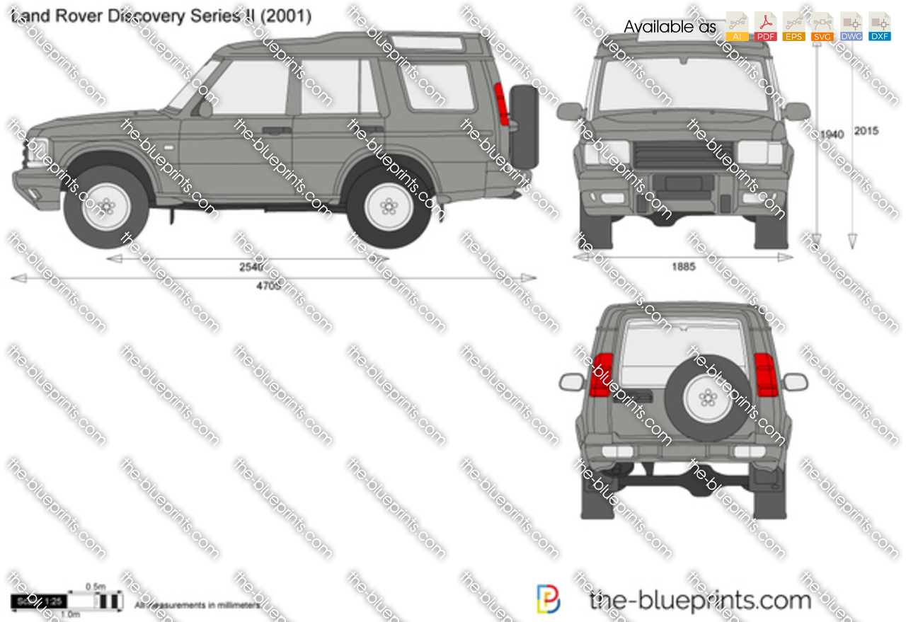 The Blueprints Com Vector Drawing Land Rover Discovery