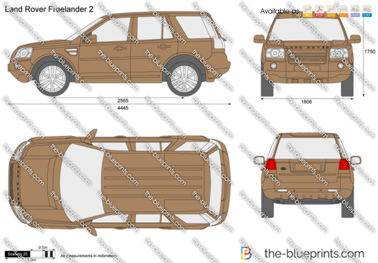 Land Rover Freelander 2 Vector Drawing
