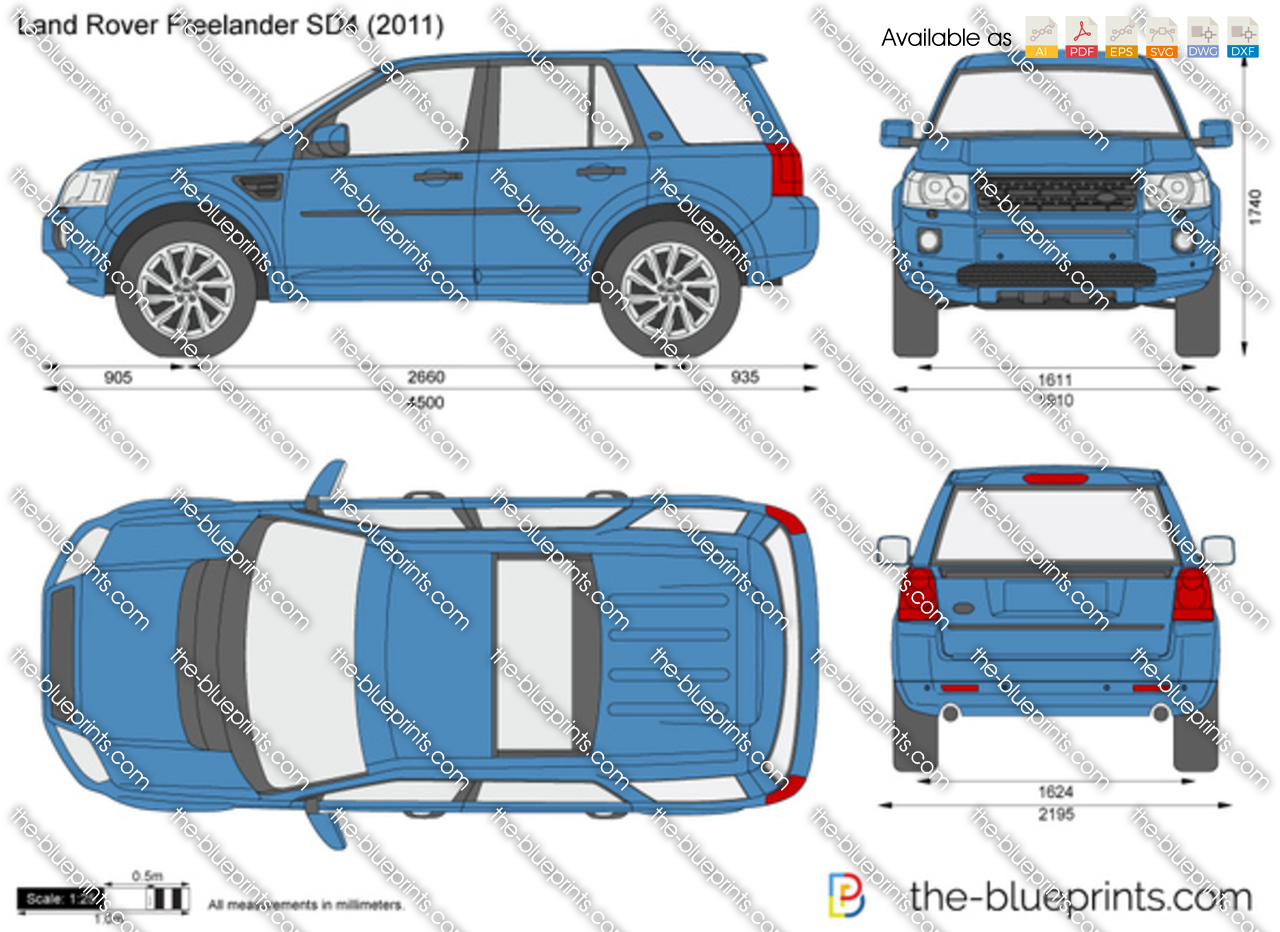 Land Rover Freelander Sd4 Vector Drawing