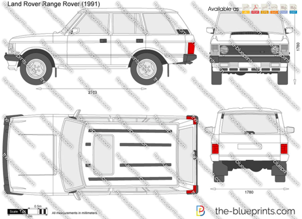 the vector drawing land rover range rover. Black Bedroom Furniture Sets. Home Design Ideas